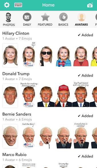Humorous Presidential Emojis - These Political Emojis are Available for Super Tuesday 2016