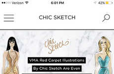 Fashion Sketch Apps - The 'Chic Sketch 2.0' App Turns Selfies in Fashion Sketches