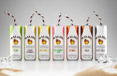 Pre-Mixed Rum Cans - Malibu is Now Serving Fruity Flavors of Rum in a Can