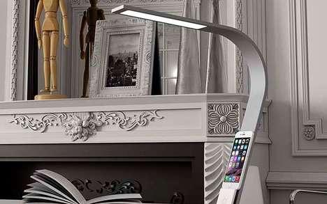 Smartphone-Docking Lamps