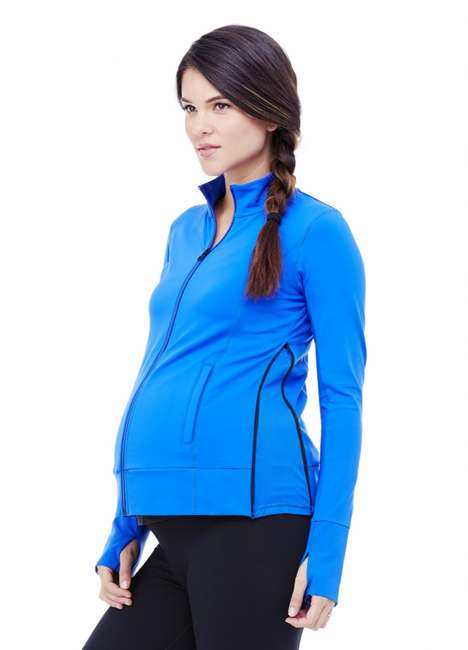 Expanding Maternity Activewear - The Ingrid & Isabel Active Side Zip Jacket Grows with the Wearer
