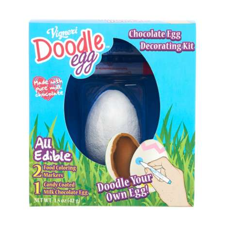Chocolate Egg-Decorating Kits - This Easter Craft Helps Kids Personalize Egg-Shaped Chocolates