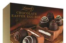 Egg Carton Chocolates - Luxury's Easter Chocolate Eggs are Shaped to Look Like a Decadent Carton