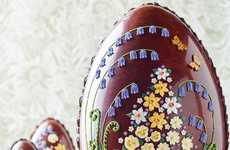 Flower-Adorned Easter Eggs