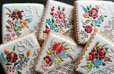 Embroidered Cookie Designs