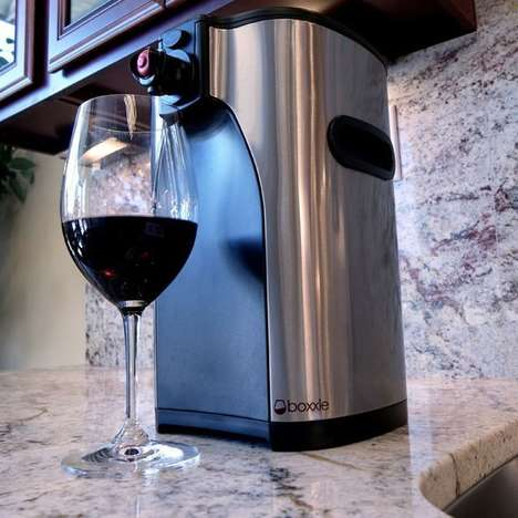 Boxed Wine Dispensers - The Boxxle is a Countertop Wine Dispenser that Holds Three Liters of Liquid
