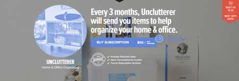 Home Organization Subscription Services - This Delivery Service Includes Items for Home Organization