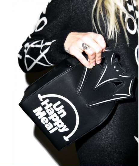 Gothic Fast Food Handbags - The Unhappy Meal Handbag is a Cryptic Play on McDonald's Merchandise