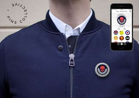 Animated GIF Pins - These Digital Pins from Pins Collective Display Customized GIFs