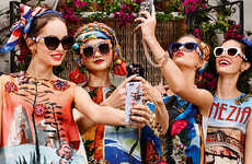 Opulent Designer Eyewear - The Latest Collection of Dolce & Gabbana Sunglasses Celebrates Color