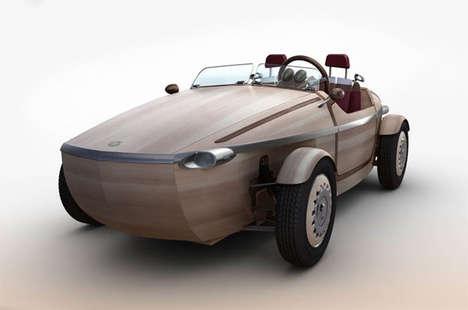 Conceptual Wooden Vehicles
