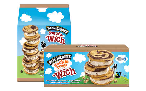 Swirled Ice Cream Sandwiches