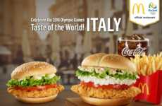 Multicultural Chicken Burgers - The New Ricotta Cheese Shanghai Burger Celebrates the 2016 Olympics