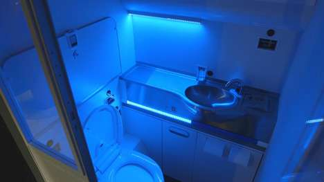 Self-Cleaning Airplane Bathrooms - The Boeing Clean Lavatory Uses UV Light to Kill Germs