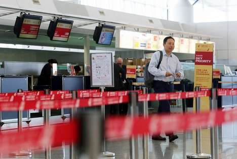 Convenient Baggage Kiosks - Hong Kong International Airport Introduces Self-Service Baggage Stations