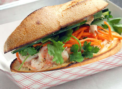 Coconut Shrimp Sandwiches - This Unique Sandwich Features Sumptuous Tiger Shrimp & Decadent Coconut