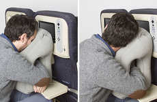 Massage-Inspired Sleeping Aids - The Woollip Travel Pillow Brings Comfort to Planes and Trains