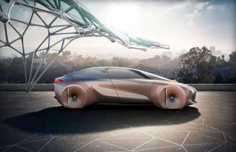 AR-Display Concept Cars - The BMW Vision Next 100 Boasts a Futuristic Windshield
