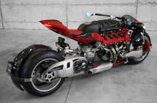 Supercar Motorcycle Concepts - The LM 847 Motorcycle Features a Full Maserati Engine
