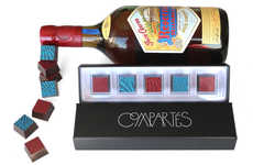Boozy Printed Truffles - Compartes Chocolatiers' Dark Chocolate Truffles are Infused with Tequila