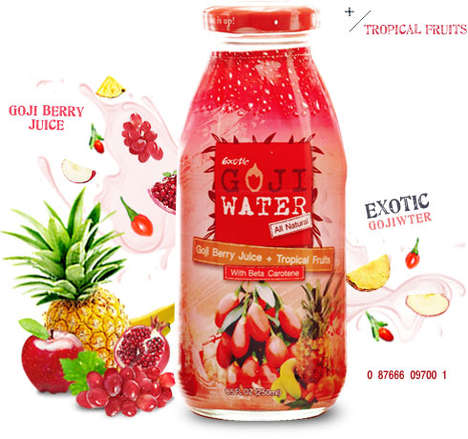 Tropical Goji Beverages - Exoticwater's Superfood Drinks Blend Unconventional Fruit Flavors