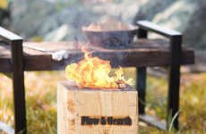 Self-Contained Bonfire Blocks - The 'BlazingBlock' Portable Firewood Creates a Bonfire Quickly