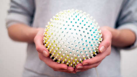 Responsive Tactile Stress Balls - The Interactive 'Stressball' Senses Body Data and Responds