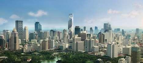 Pixelated Thai Skyscrapers