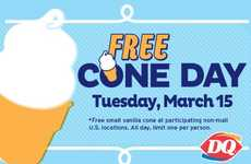 Complimentary Ice Cream Promotions - This Chain is Celebrating Spring with Free Ice Cream Cones