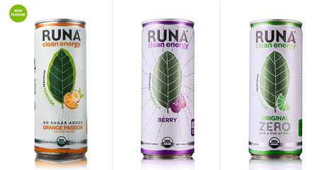 Brewed Leaf Energy Drinks - Runa's Clean Energy Drinks are Flavored with Organic Guayusa Leaves