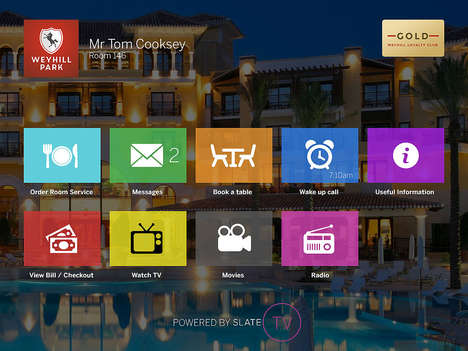 In-Suite Concierge Apps - Slate is Replacing Hotel Concierges with Its New TV App