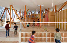 Multilevel Kindergarten Classrooms - This Classroom Features Play Spaces That Span Different Levels
