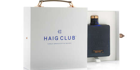 Minimalist Whisky Branding - The Haig Club is a Bourbon-Style Whisky with Sophisticated Packaging