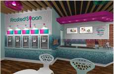Modern Interactive Dessert Parlors - Frozen Spoon will Offer Healthy Treats and a Clean Interior