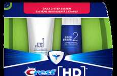 Two-Step Toothpaste Systems - The New Crest HD System Strips Plaque and Whitens Teeth