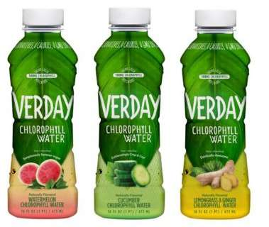 Cleansing Chlorophyll Water - Verday's Healthy Water Drinks Come in Light Fruit Flavors