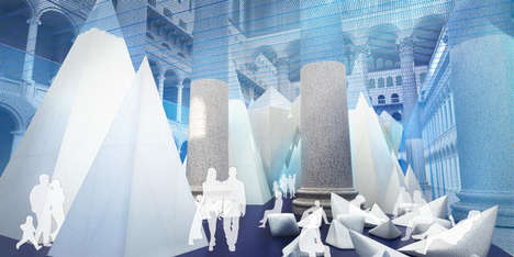 Simulated Iceberg Installations - This National Building Museum Exhibit Will Explore Icebergs