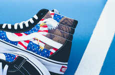 Patriotic Slip-on Sneakers - The 'American Freedom' Printed Vans Celebrate America's Heritage
