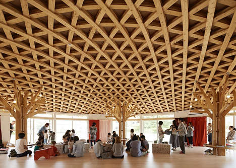 Straw Hat-Inspired Ceilings