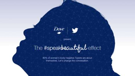 Tweet-Analyzing Beauty Campaigns - This Dove and Twitter Tool Measures Negative Body Talk
