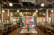 Award-Winning Airport Restaurants - The Jamie's Italian Gatwick Location Was Designed by Blacksheep