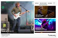 Live Concert-Streaming Apps - The Latest LiveList Feature Gives Fans a New Way to Stream Concerts