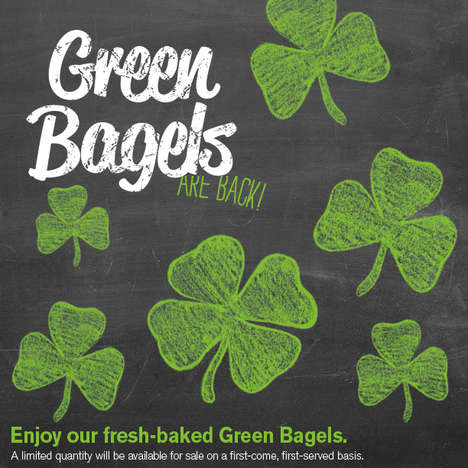 Shamrock-Colored Bagels