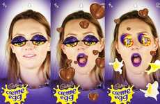 Easter Egg Snapchat Lenses - Cadbury Creme Egg Unveiled a Sponsored Snapchat Lens in the UK