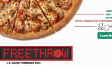 Basketball Season Pizza Promotions - This Brand is Celebrating March Madness with Free Pizza