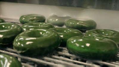 Festive Green Donuts
