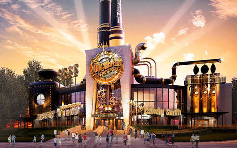 Cinematic Chocolate Factory Eateries - Universal Studios is Opening a Willy Wonka-Themed Restaurant