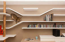 Feline-Friendly Bookshelves