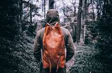 Rolltop Leather Rucksacks