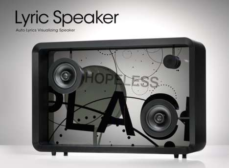 Lyric-Displaying Speakers - The IoT 'Lyric Speaker' Matches Audio Tracks with Visual Elements